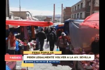 COMERCIANTES PIDEN LEGALMENTE VOLVER A LA AVENIDA SEVILLA