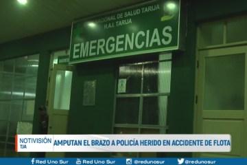 AMPUTAN EL BRAZO DE POLICÍA HERIDO EN ACCIDENTE DE FLOTA