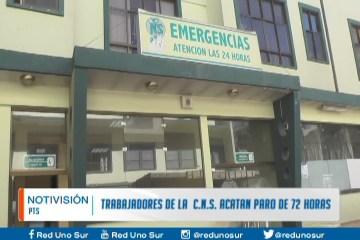 TRABAJADORES DE LA C.N.S ACATAN PARO DE 72 HORAS