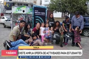 EXISTE AMPLIA OFERTA DE ACTIVIDADES PARA ESTUDIANTES