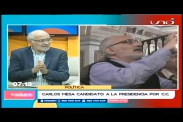 ENTREVISTA: CARLOS MESA CANDIDATO PRESIDENCIAL
