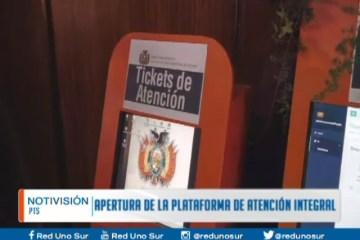 APERTURA DE LA PLATAFORMA DE ATENCIÓN INTEGRAL