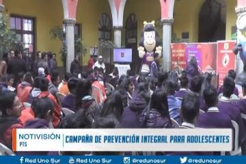 CAMPAÑA DE PREVENCIÓN INTEGRAL PARA ADOLESCENTES