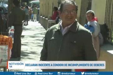 DECLARAN INOCENTE A CONDORI DE INCUMPLIMIENTO DE DEBERES