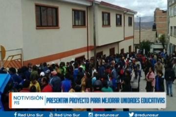PRESENTAN PROYECTO PARA MEJORAR UNIDADES EDUCATIVAS