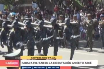 PARADA MILITAR EN LA EX ESTACIÓN ANICETO ARCE