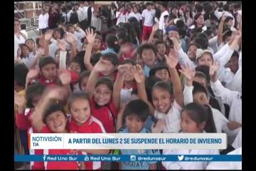 A PARTIR DEL LUNES 2 SE SUSPENDE EL HORARIO DE INVIERNO