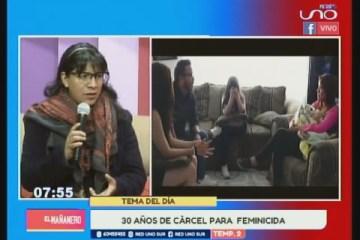 TEMA DEL DÍA: 30 AÑOS DE CÁRCEL PARA FEMINICIDA