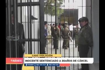 INOCENTE SENTENCIADO A 20 AÑOS DE CÁRCEL