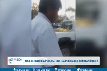 ARCE DESCALIFICA PROCESO CONTRA POLICÍA QUE FILMÓ A VÁZQUEZ