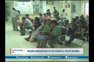 HRSJDD ATENDIÓ MÁS DE 220 EL FIN DE SEMANA