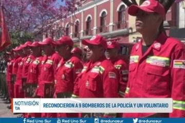 RECONOCIERON A 9 BOMBEROS DE LA POLICÍA