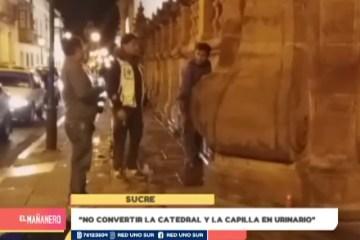 """""""NO CONVERTIR LA CATEDRAL Y LA CAPILLA EN URINARIO"""""""