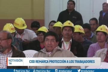 COD REMARCA PROTECCIÓN A LOS TRABAJADORES