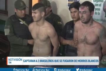 CAPTURAN A TRES BRASILEÑOS QUE SE FUGARON DE MORROS BLANCOS