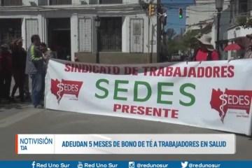 ADEUDAN 5 MESES DEL BONO DE TÉ A TRABAJADORES EN SALUD