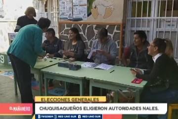 CHUQUISAQUEÑOS ELIGIERON AUTORIDADES NACIONALES