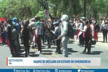 U.A.J.M.S. SE DECLARA EN ESTADO DE EMERGENCIA