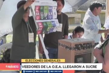 VEEDORES DE LA O.E.A. LLEGARON A SUCRE