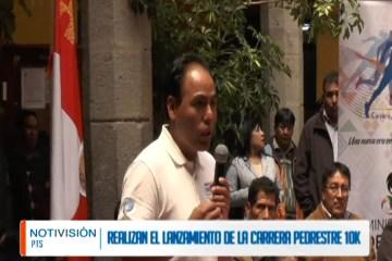 REALIZAN EL LANZAMIENTO DE LA CARRERA PEDESTRE 10K