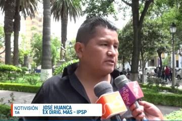 HUANCA DENUNCIA A CÍVICOS COMO ARTICULADORES POLÍTICOS