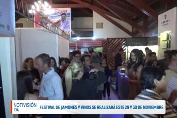 FESTIVAL DE JAMONES Y VINOS SE REALIZARÁ ESTE 29 Y 30 DE NOVIEMBRE