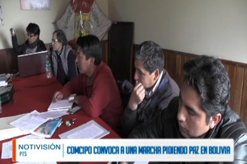 COMCIPO CONVOCA A UNA MARCHA PIDIENDO PAZ EN BOLIVIA