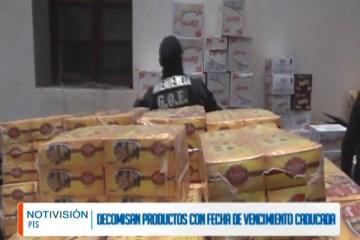 DECOMISARON PRODUCTOS CON FECHA DE VENCIMIENTO CADUCA