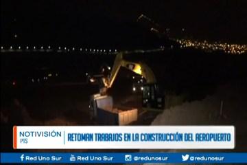 RETOMAN TRABAJOS DE CONSTRUCCIÓN DEL AEROPUERTO INTERNACIONAL