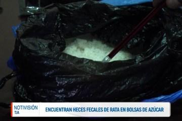 ENCUENTRAN HECES DE RATA EN BOLSAS DE AZUCAR