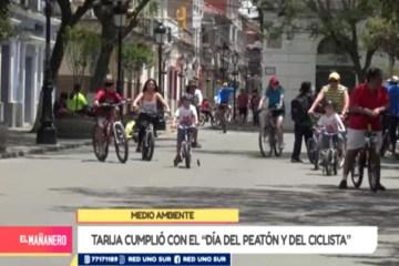 TARIJA CUMPLIÓ CON EL DÍA DEL PEATÓN Y DEL CICLISTA