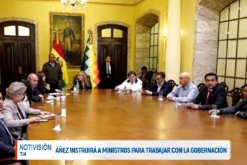 PRESIDENTA ÁNEZ INSTRUIRÁ A MINISTROS PARA TRABAJAR CON LA GOBERNACIÓN