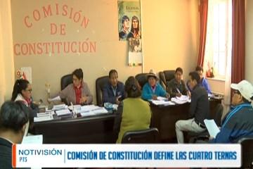COMISIÓN DE CONSTITUCIÓN DEFINE LAS CUATRO TERNAS