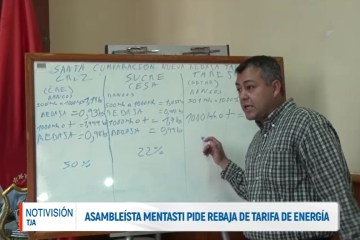 ASAMBLEÍSTA MENTASTI PIDE REBAJA DE TARIFA DE ENERGÍA