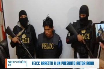 FELCC ARRESTÓ A UN PRESUNTO LADRÓN DE MATERIAL DE MINERÍA