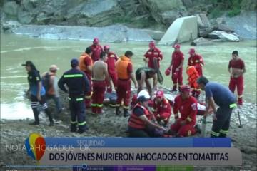 DOS JÓVENES MURIERON AHOGADOS EN TOMATITAS