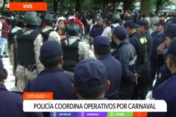 POLICÍA COORDINA OPERATIVOS POR CARNAVAL