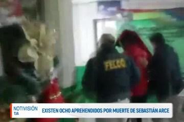 HAY OCHO APREHENDIDOS POR LA MUERTE DE SEBASTIÁN ARCE