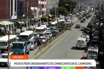 SECTOR DE MICROS PIDE ORDENAMIENTO DE COMERCIANTES EN EL CAMPESINO
