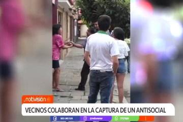 VECINOS COLABORAN EN LA CAPTURA DE UN ANTISOCIAL