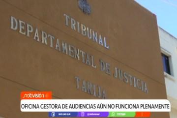 OFICINA GESTORA DE AUDIENCIAS AÚN NO FUNCIONA PLENAMENTE