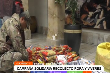 CAMPAÑA SOLIDARIA RECOLECTÓ ROPA Y VÍVERES