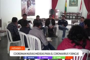 CÍVICOS COORDINAN NUEVAS MEDIDAS CONTRA EL CORONAVIRUS Y EL DENGUE