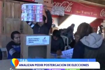 ANALIZAN PEDIR LA POSTERGACIÓN DE LAS ELECCIONES
