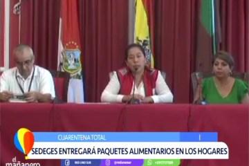 SEDEGES ENTREGARÁ CANASTAS ALIMENTARIAS EN LOS HOGARES