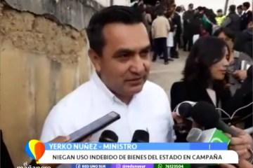 NIEGAN USO INDEBIDO DE BIENES DEL ESTADO EN CAMPAÑA DE ÁÑEZ