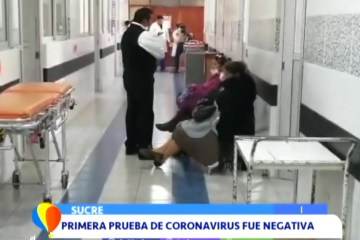 PRIMERA PRUEBA DE CORONAVIRUS FUE NEGATIVA