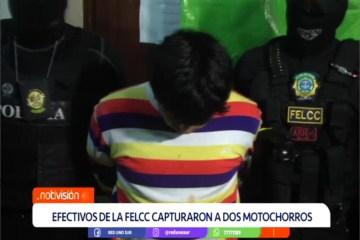 """EFECTIVOS DE LA FELCC CAPTURARON A DOS """"MOTOCHORROS"""""""