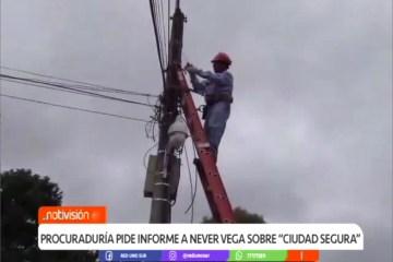 """PROCURADURÍA PIDE INFORME A NEVER VEGA SOBRE """"CIUDAD SEGURA"""""""