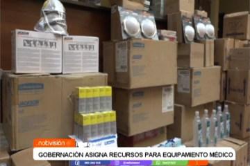 GOBERNACIÓN ASIGNÓ RECURSOS PARA EQUIPAMIENTO MÉDICO